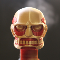Free Colossal Titan Head 3D printer file, ROYLO