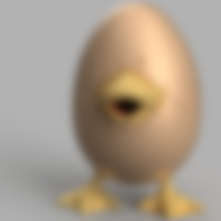 Download free 3D printer designs Eggy Duck, ShockyBugs