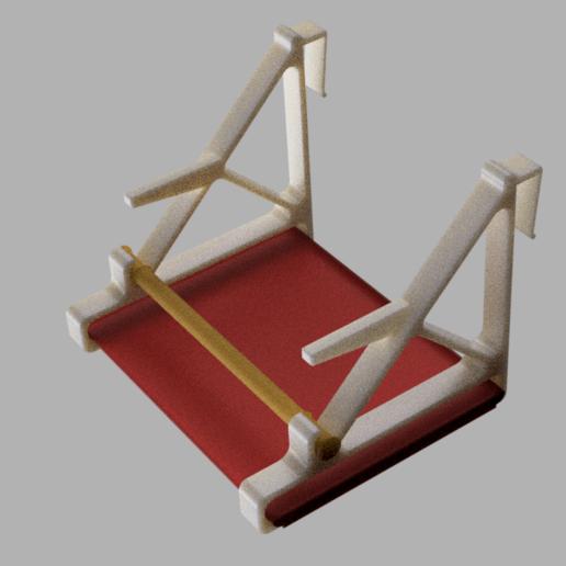 Bird_Perch_v4a.png Télécharger fichier STL gratuit Perchoir à oiseaux (crochet sur la porte de l'armoire) • Modèle imprimable en 3D, ShockyBugs