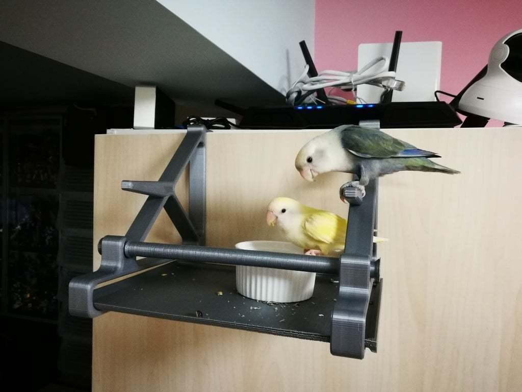 IMG_20200502_151808_1.jpg Télécharger fichier STL gratuit Perchoir à oiseaux (crochet sur la porte de l'armoire) • Modèle imprimable en 3D, ShockyBugs
