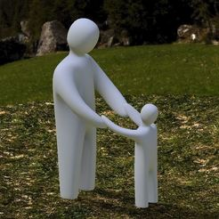 "Download STL file ""Never let go"" Art Sculpture • Design to 3D print, Jdog"