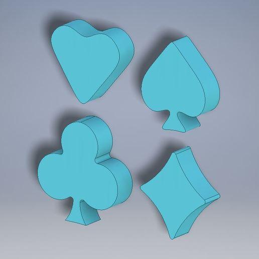 AllSOLID.JPG Download free STL file Cards Cookie Cutters (4 Pack) • 3D print design, Jdog