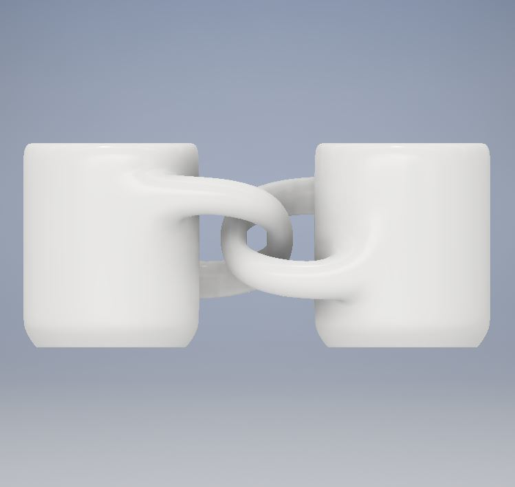 Engagment Mugs 2.JPG Download free STL file Engagement Coffee Mugs • Object to 3D print, Jdog