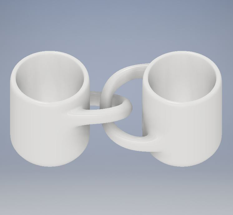 Engagment Mugs 1.JPG Download free STL file Engagement Coffee Mugs • Object to 3D print, Jdog