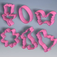 cc.JPG Download free STL file Easter Cookie Cutter (6 Pack) • 3D printer template, Jdog