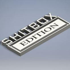 Download free STL file Ford Shitbox Edition Truck Plaque • 3D printable template, Jdog