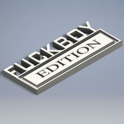 Download free STL file Fuckboy Edition Car/Truck Plaque • 3D printing object, Jdog
