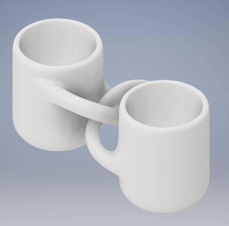 Engagment Mugs 4.JPG Download free STL file Engagement Coffee Mugs • Object to 3D print, Jdog