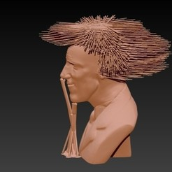 ghghfgfg.jpg Download OBJ file Hairy Spinetta - Hairy Spinetta • 3D printer template, JoacoKin
