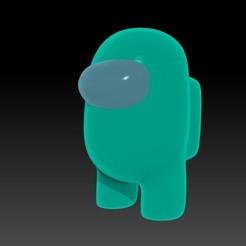 AMONGUS.jpg Télécharger fichier OBJ Le modèle 3D officiel parmi nous (version stylisée) • Modèle à imprimer en 3D, JoacoKin