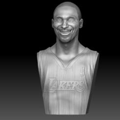 Télécharger plan imprimante 3D Buste de Kobe Bryant souriant (3 versions différentes) - Buste de Kobe Bryant souriant, JoacoKin