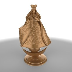 caacupe.jpg Download OBJ file Virgin of Caacupe Made by @Joaco.Kin • 3D printing template, JoacoKin