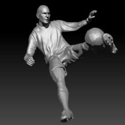 Descargar diseños 3D Zinedine Zidane Volley - Zidedine Zidane volley - Volea, JoacoKin