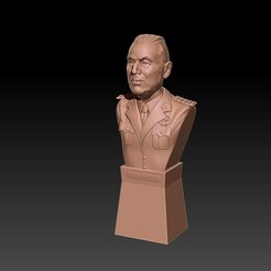 Busto Peron.jpg Télécharger fichier OBJ Buste de Juan Domingo Perón - Attache au cou + piédestal • Modèle à imprimer en 3D, JoacoKin
