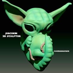 Download 3D printing designs Yoda Embryo - Embryo Yoda (No supports), JoacoKin