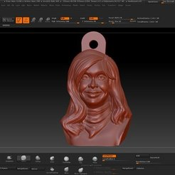 Download 3D printing files Key ring Cristina Fernandez de Kirchner, JoacoKin