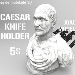 Impresiones 3D Caesar Knife Kitchen Holder - Cesar sujeta cuchillos de cocina, JoacoKin