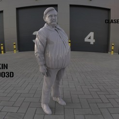Download 3D printing files Boludos Attendant (Full body and pedestal), JoacoKin