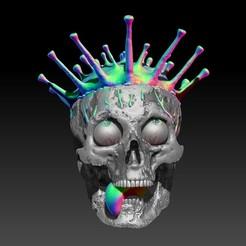 Descargar archivo OBJ Coronavirus Skull-- ByJoacoKin • Plan de la impresora 3D, JoacoKin