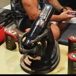 HAND 2.jpg Download OBJ file Skeleton Hand (tattoo machine Holder) - Tattoo machine • Model to 3D print, JoacoKin