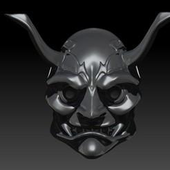 Download 3D printing files Samurai Mask shuten douji kneepad, JoacoKin