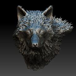 efedddaadd.jpg Download OBJ file Wolf for jewlery - Lobo para joyeria • 3D printable template, JoacoKin