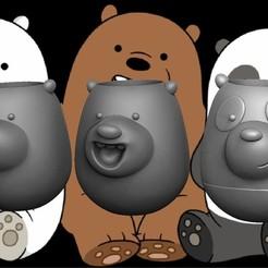 OSSSOSOS.jpg Download OBJ file The bare bears - Los osos escandalosos (Pencil Holder - Lapicero) • 3D printing template, JoacoKin