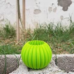 Télécharger fichier STL Vase de spirale de potiron • Objet pour impression 3D, PolacoJNM