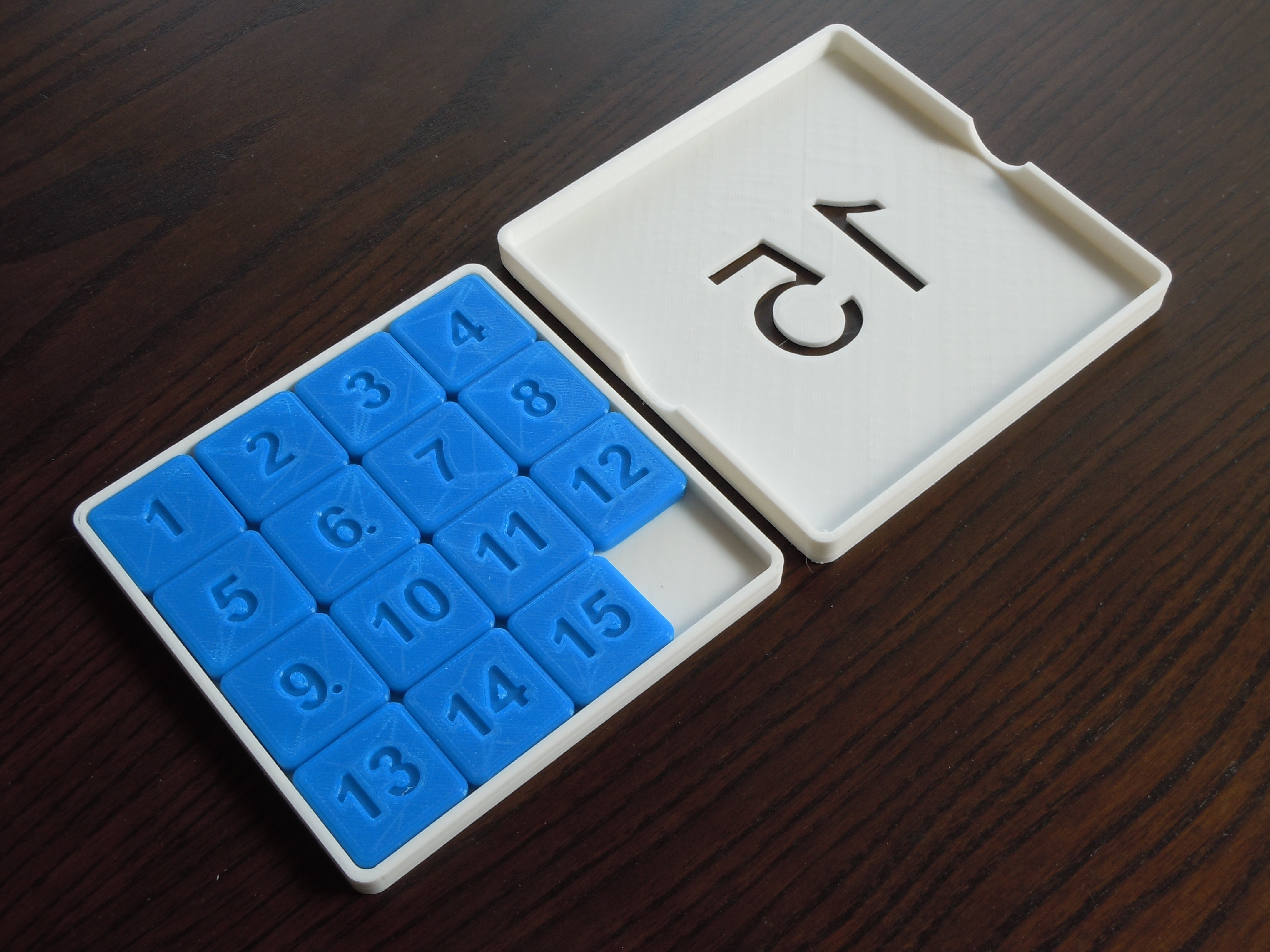 DSCN5545.JPG Download STL file 15 Puzzle Game • Template to 3D print, Vuglu