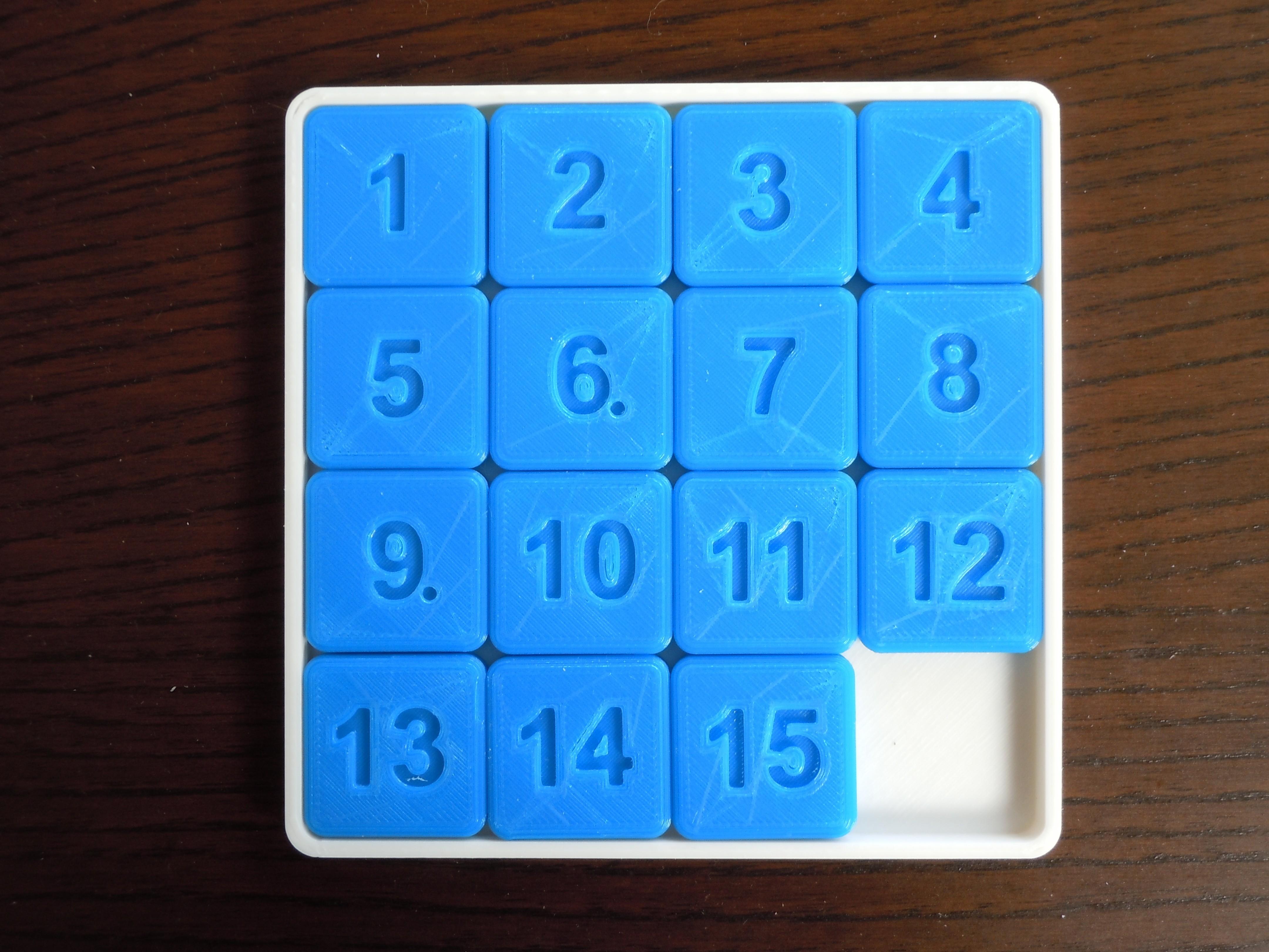 DSCN5544.JPG Download STL file 15 Puzzle Game • Template to 3D print, Vuglu