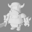 3D printer models Figure of mini PEKKA Clash Royale, JuanMA