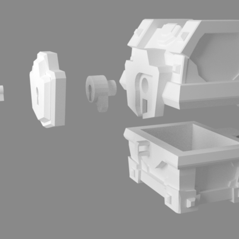 cofre magic 2.png Download STL file Magical chest with key in the Clash Royale • 3D print design, JuanMA