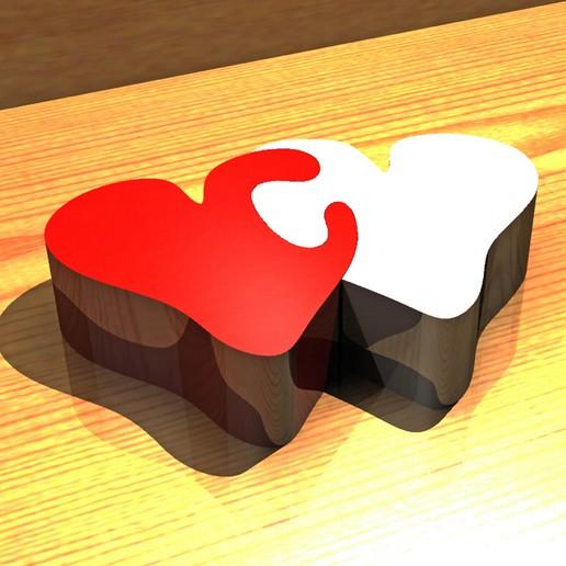Télécharger plan imprimante 3D gatuit Coeurs de la Saint-Valentin, Gemelandio