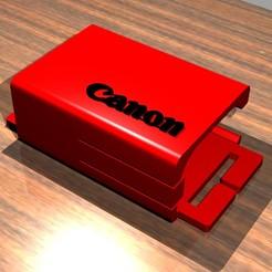 LP-E6_holder.jpg Télécharger fichier STL Porte-sangle Pile Canon LP-E6 LP-E6N • Modèle pour impression 3D, Gemelandio