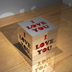 Download 3D printing designs Love cube, Gemelandio