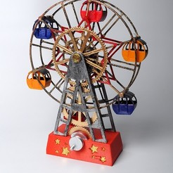 DSC_3800Small.jpg Download free STL file Ferris Wheel • 3D printing template, wjordan819