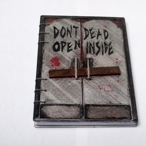 DSC_3733.JPG Download free STL file Walking Dead - Dead Inside Journal • Design to 3D print, wjordan819