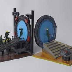 SG3.jpg Download free STL file Stargate Bookends • 3D print model, wjordan819
