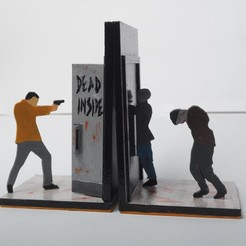 modelos 3d gratis Walking Dead Book Ends, wjordan819