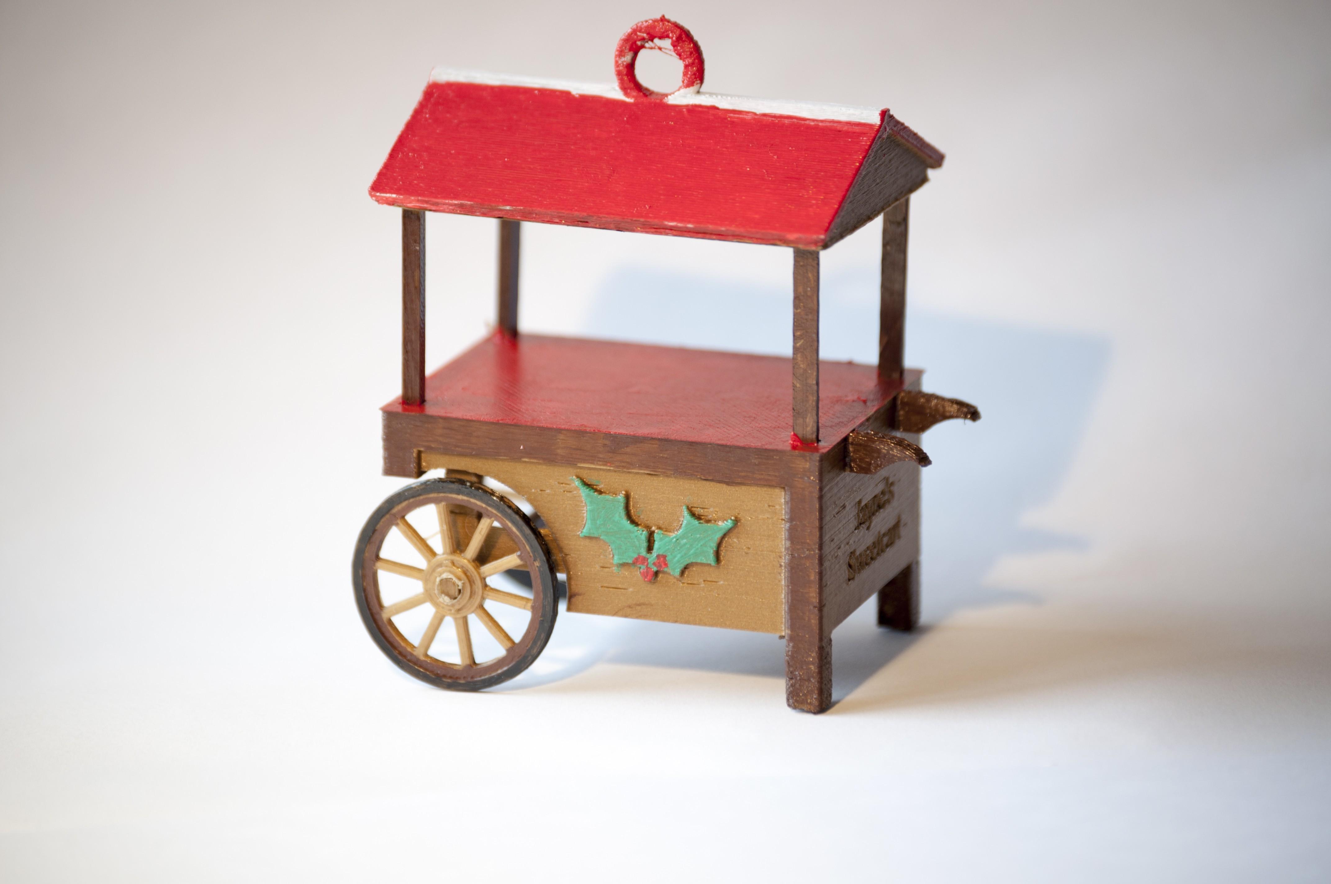 Sweetcart3.jpg Download free STL file Sweet Cart Christmas Ornament • 3D printable design, wjordan819