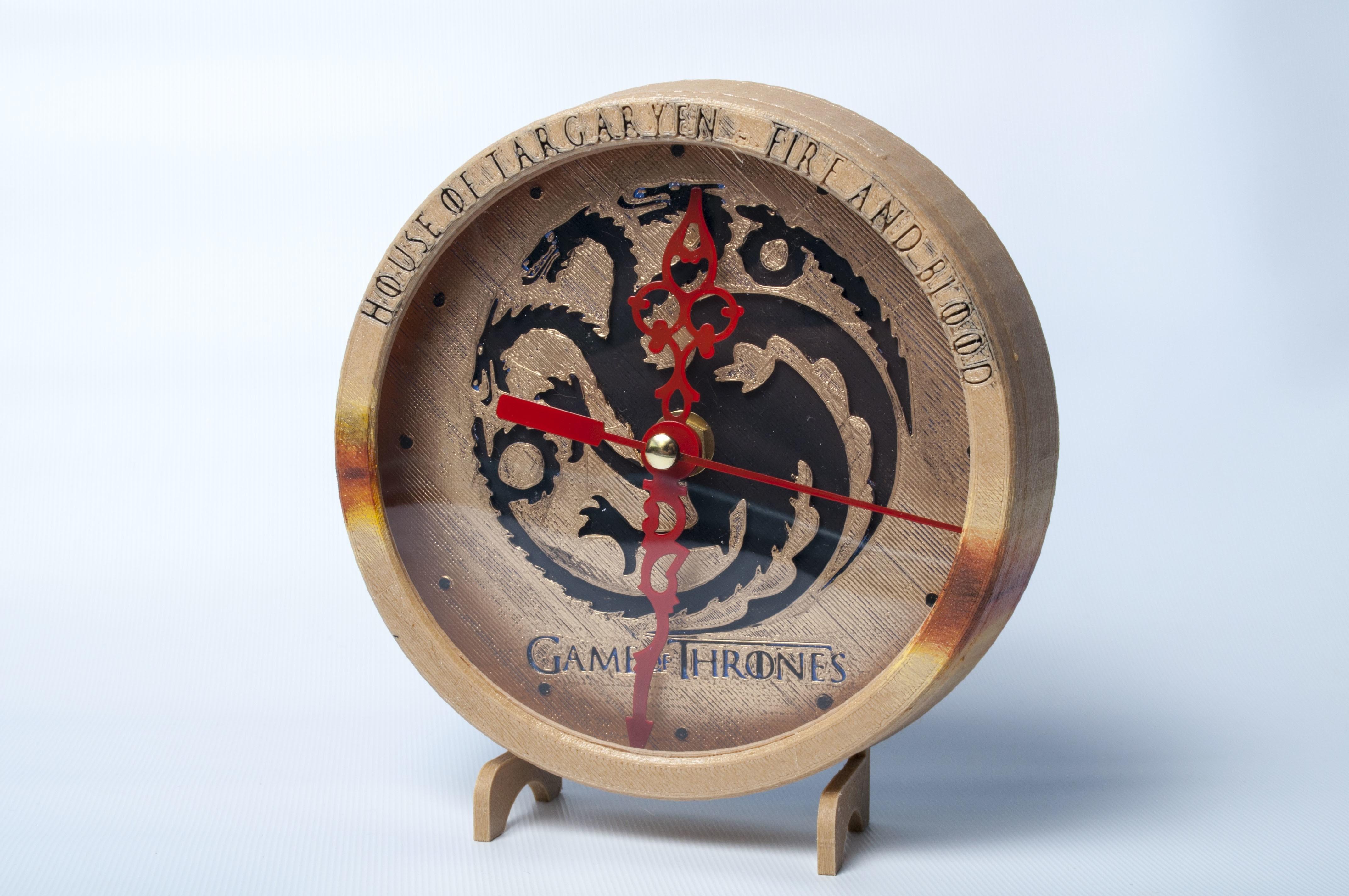 DSC_4185.jpg Download free STL file Game of Thrones Clock • 3D printable object, wjordan819