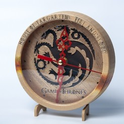 Download free 3D model Game of Thrones Clock, wjordan819