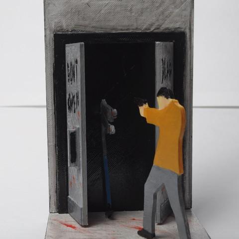DSC_3774.JPG Download free STL file Walking Dead Book Ends • 3D printable design, wjordan819