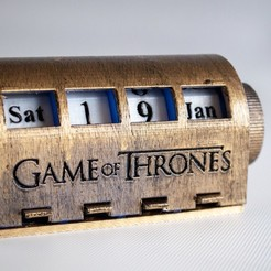 Free STL files Game of Thrones Desk Calendar, wjordan819