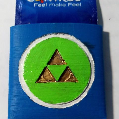 Condom Holder Triforce.jpeg Download STL file Triforce condom pocket • 3D print model, Jtachan