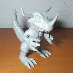 Download free 3D printer designs Greymon, Jtachan