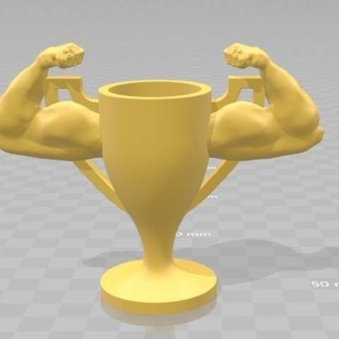 3D printer models Muscle Trophy, Jtachan