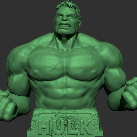 Descargar archivos STL gratis Busto de Hulk, JSstudio