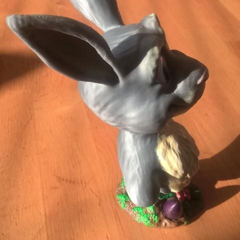 WP_20180325_17_16_59_Pro_LI.jpg Download free STL file Easter Bunny Bust • Template to 3D print, JSstudio
