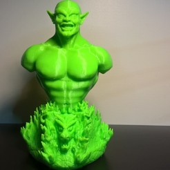 Download free STL files Goblin bust, JSstudio